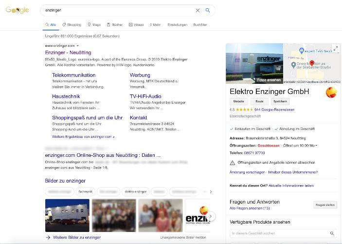 Organsiche Suchergebnisse
