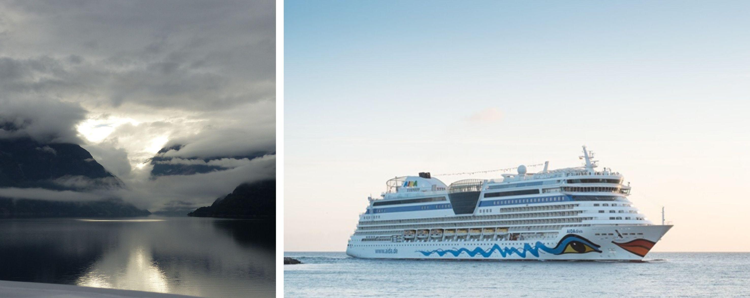 AIDAdiva Norwegens Fjorde ab Warnemünde 2021