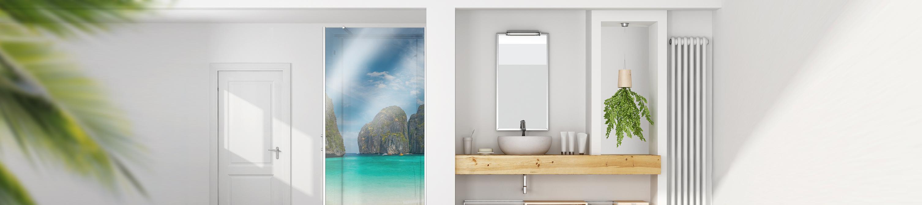 duschr ckwand aus glas online kaufen. Black Bedroom Furniture Sets. Home Design Ideas