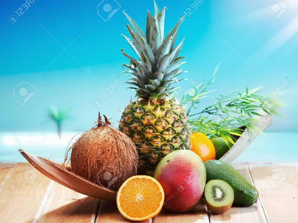 Spritzschutz für die Küche frisches Obst
