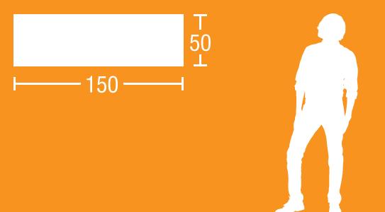 Glas-Magnettafel 150 x 50 cm