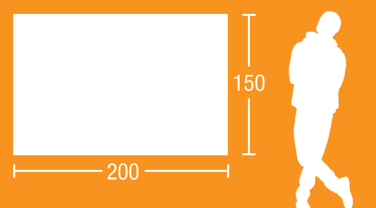 Glas-Magnettafel 200 x 150 cm