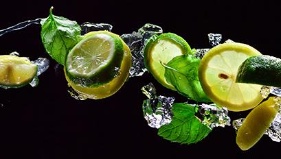Küchenrückwand Motiv Lemon Splash