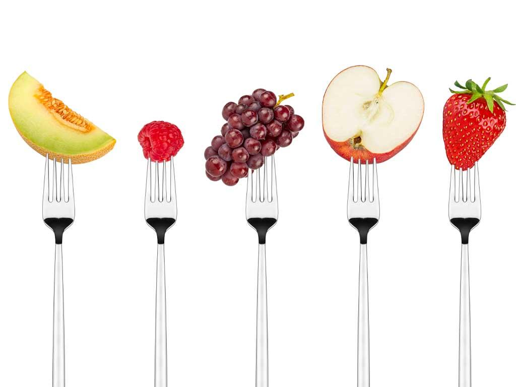 Spritzschutz für die Küche mit Obstgabeln