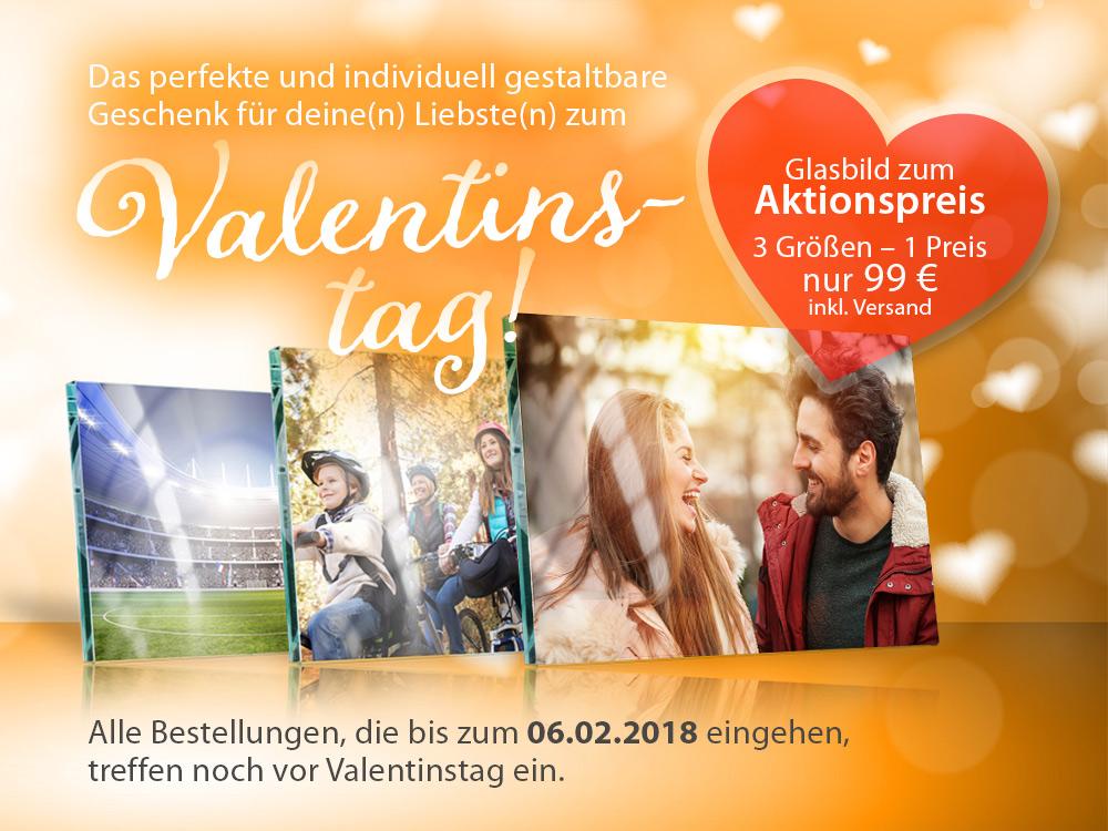 Glasbild kaufen – Geschenk zum Valentinstag