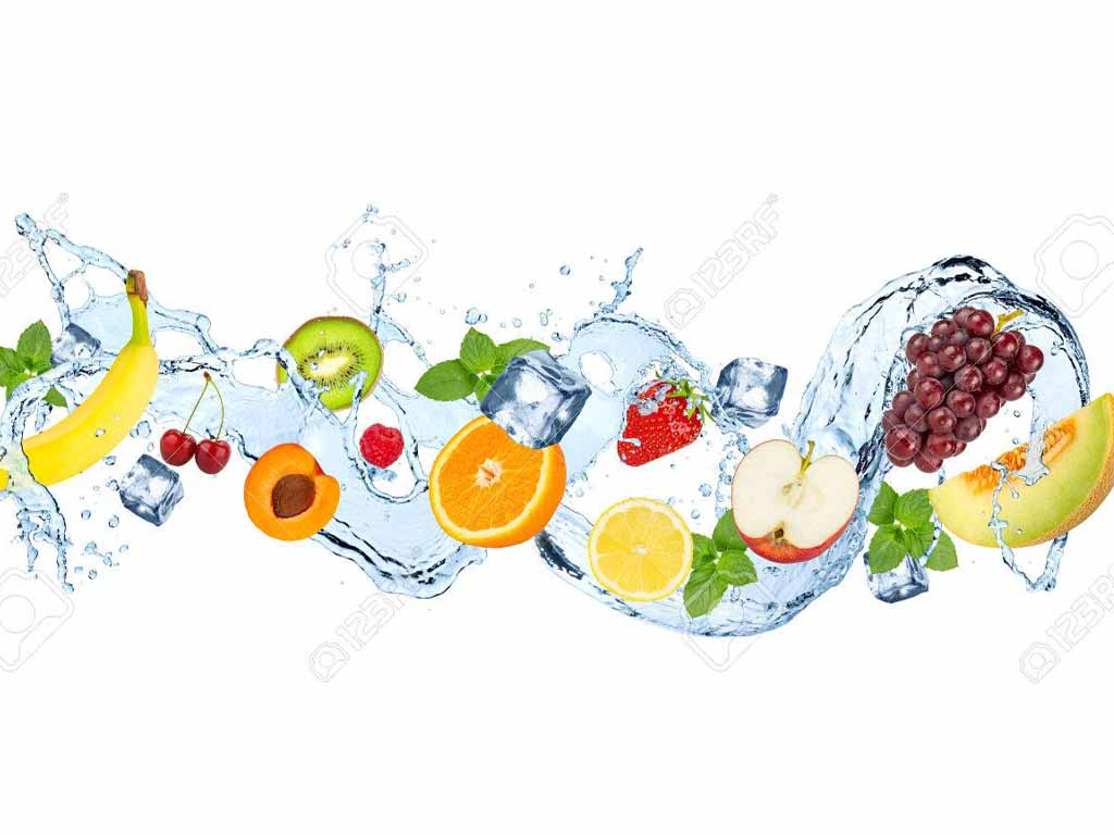 Spritzschutz für die Küche Welle mit Früchten