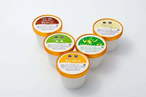 カップアイス(バニラ、レモン、抹茶、クリームチーズ、チョコレート)