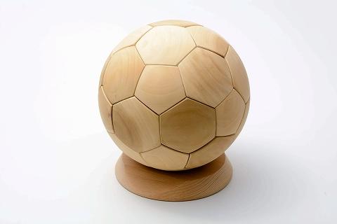 木製サッカーボール5号球 ポプラ(大)
