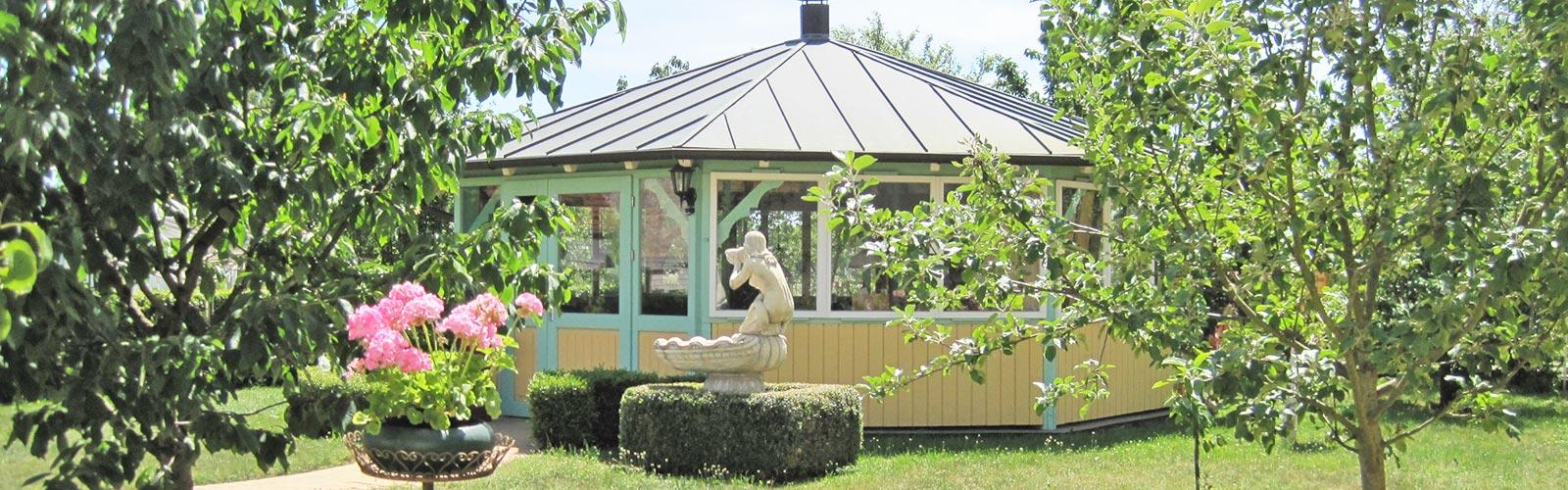 Der Pavillon im Außenbereich des Ruhesitz Golzows