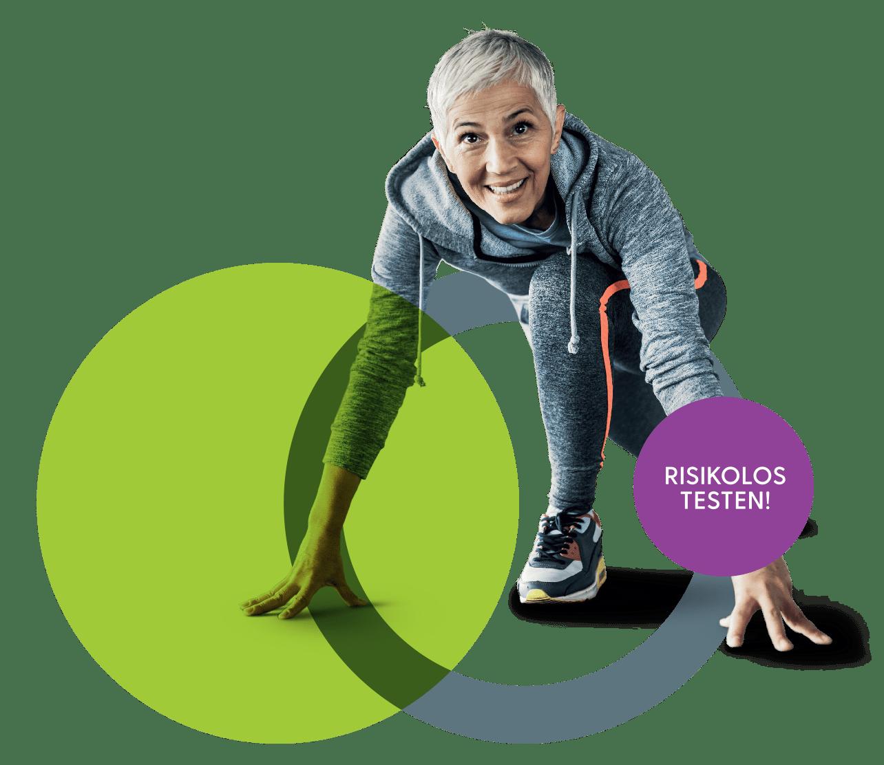 Sportliche Frau bei Medimotion