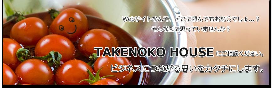 Webサイト制作はTAKENOKO HOUSEにお任せ下さい