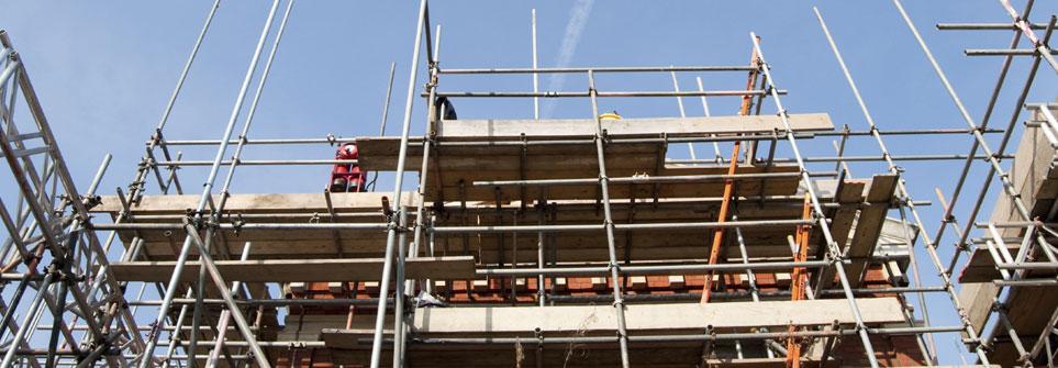 Baustelle-Häuserbau