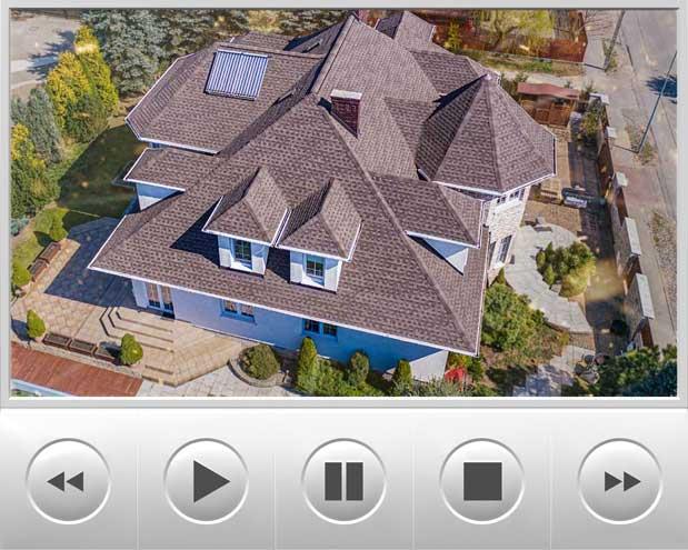Luksusowy duży dom w stylu amerykańskim pokryliśmy najlepszymi gontami marki GAF model timberline HD w kolorze Barkwood obiekt znajduje się w warszawie