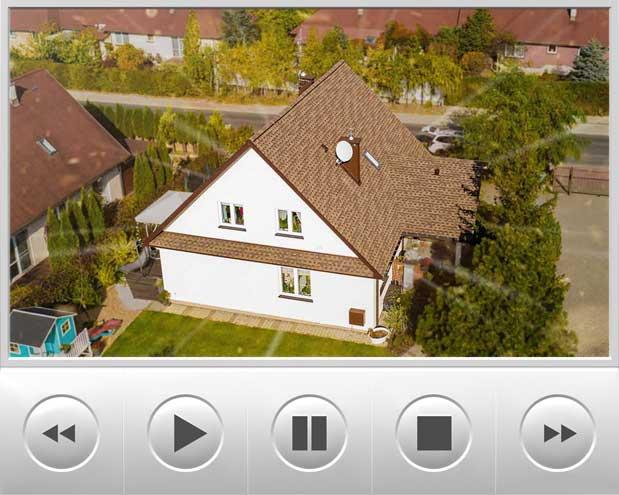 Na dachu prezentujemy gonty bitumiczne Timberline HD w kolorze Barkwood który remontowaliśmy na osiedlu domów pokrytych gontem w kształcie karpiówki, realizacja znajduje się w okolicach Krakowa