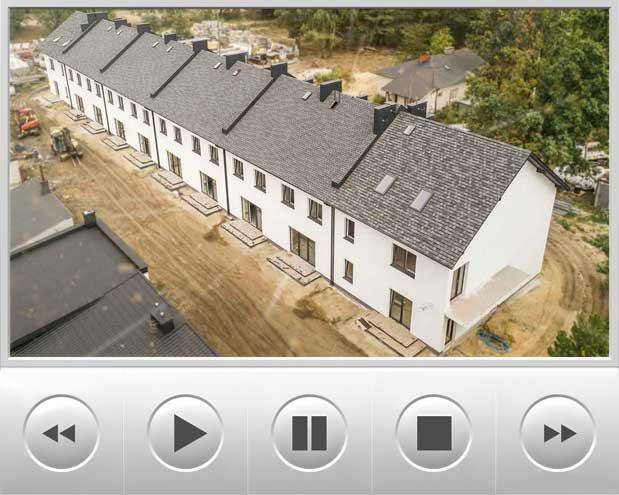 Ciekawa realizacja tym razem domów w zabudowie szeregowej
