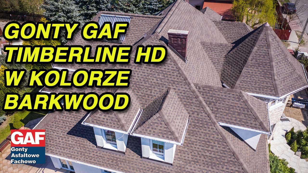 Dach pokryte gontem GAF timberline® HD™ w kolorze Barkwood