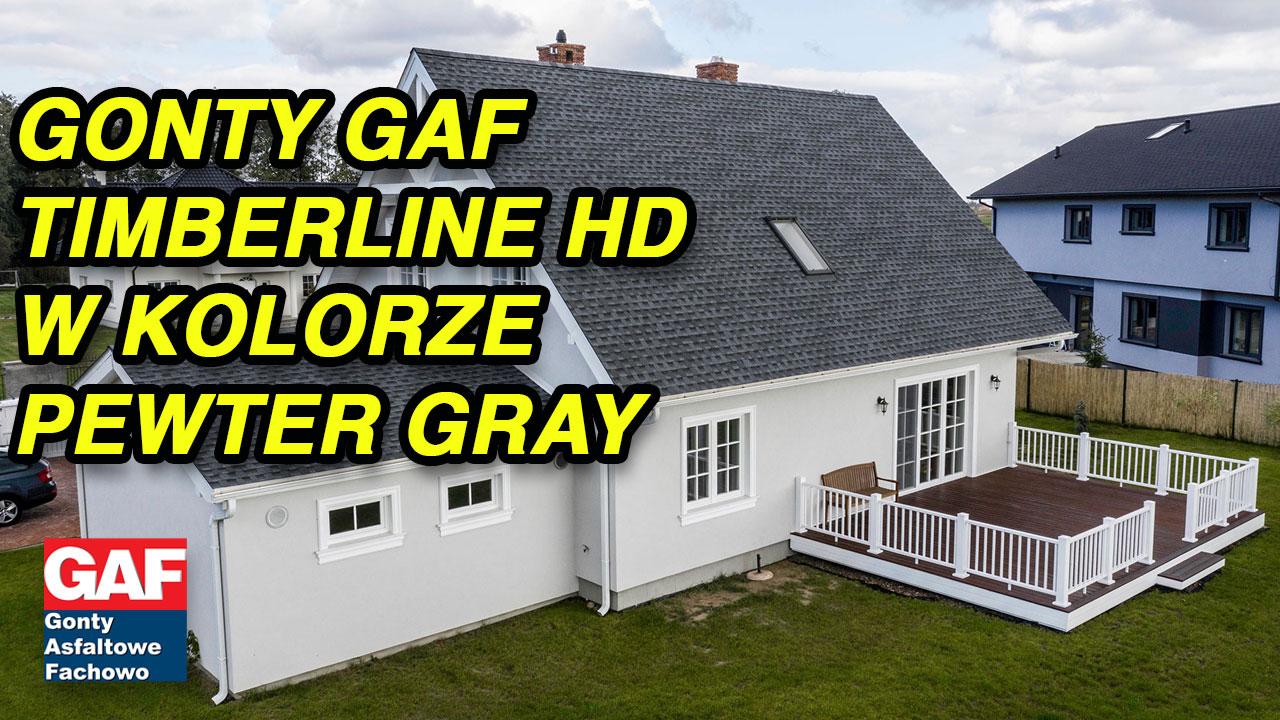 Gonty bitumiczne GAF model Timberline HD w kolorze Barkwood - film z realizacji