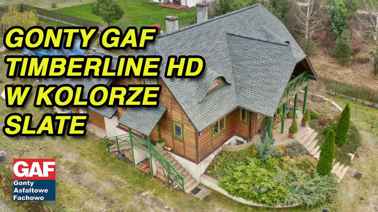 Dach pokryte gontem GAF timberline® HD™ w kolorze Slate