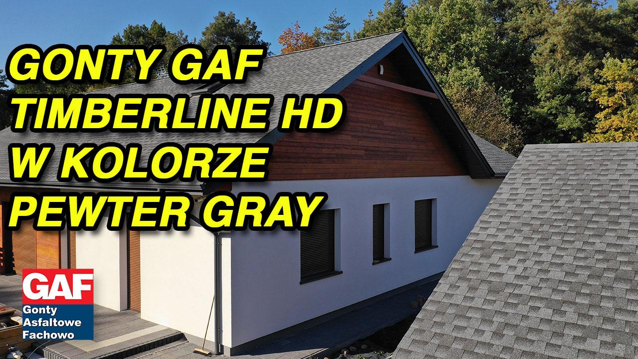 Dach pokryte gontem GAF Timberline® HD™ w kolorze Pewter Gray