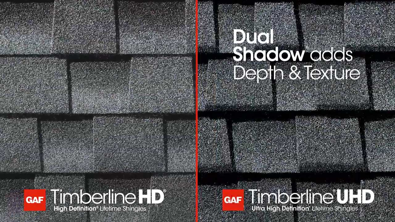gonty GAF Timberline® Ultra HD™ z technologią dual shadow