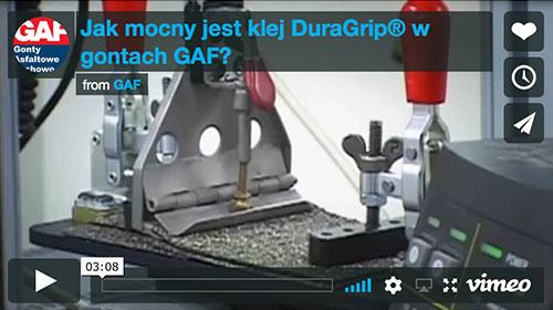 Jak mocny jest klej DuraGrip® w gontach GAF?