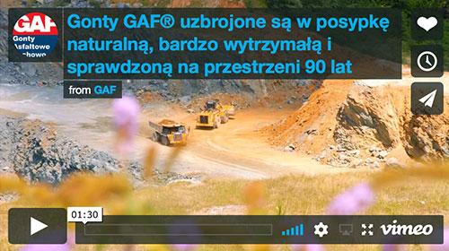 Gonty GAF posiadają naturalnie najmocniejszą posypkę na Świecie