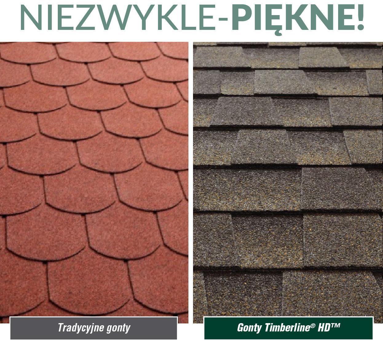 porównanie gontu tradycyjnego z GAF Timberline® TH™