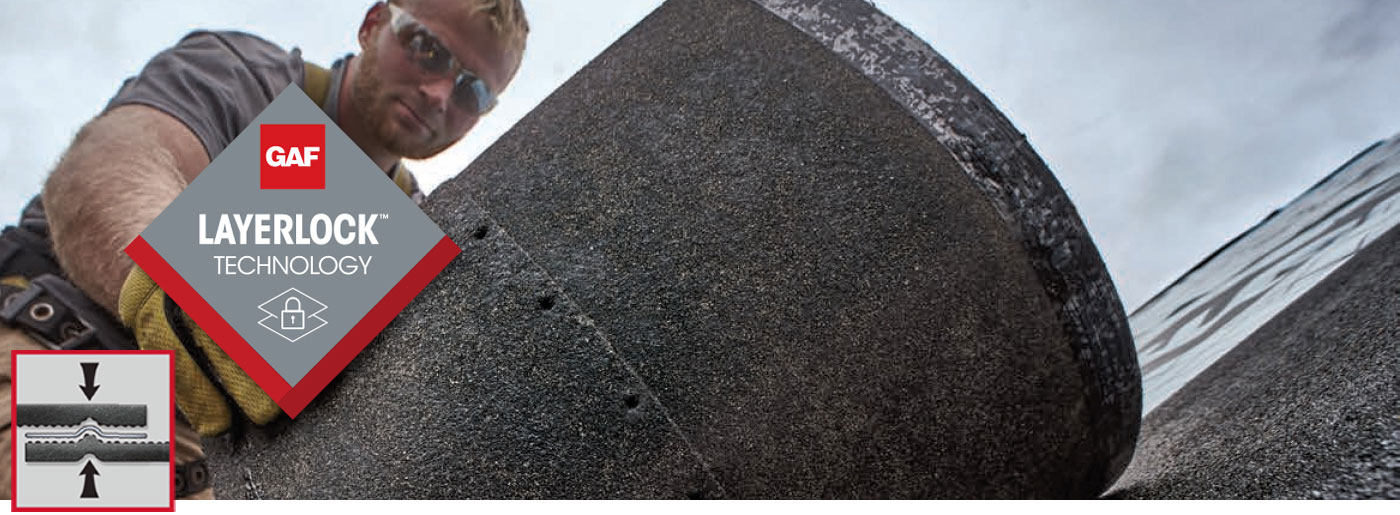 duża grafika i gont bitumiczny GAF Timberline HDZ z przełomową technologią LayerLock