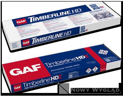 Zmiana okapowania w gontach bitumicznych GAf Timberline HD i Timberline HDZ