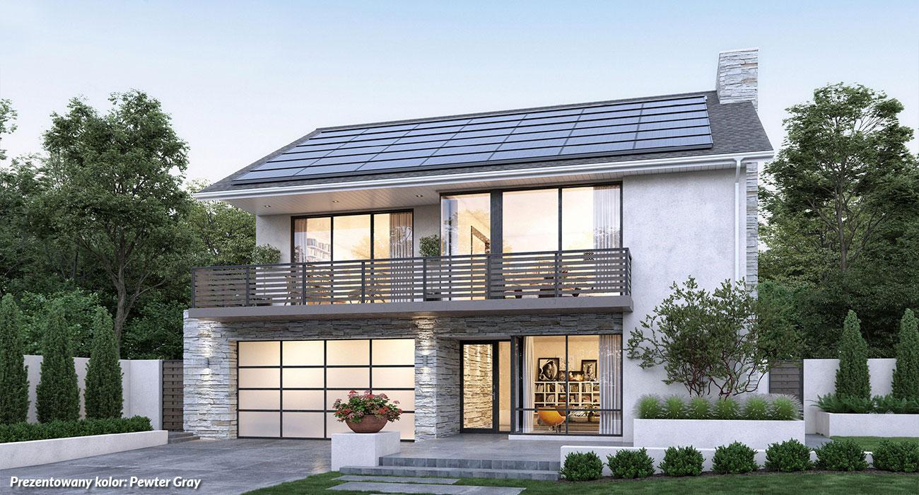 dach pokryty przez amerykańskie laminowane gonty bitumiczne gaf timberline hdZ w kolorze Pewter Gray