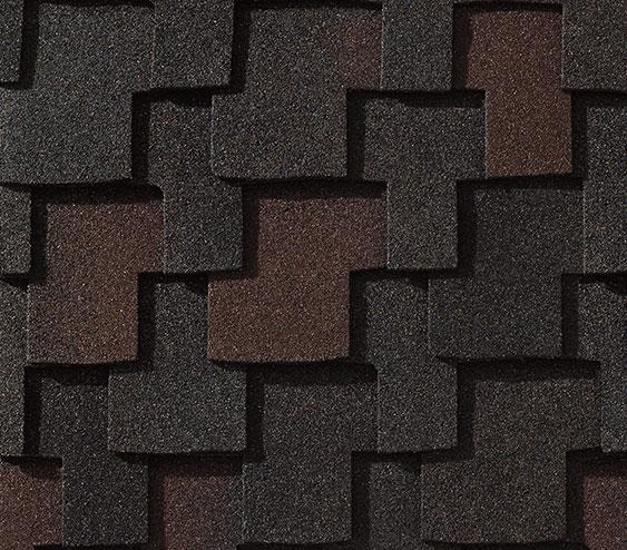 zdjęcie luksusowego gontu amerykańskiego klasu ultra premium marki GAF z linii Grand Canyon w kolorze Black Oak