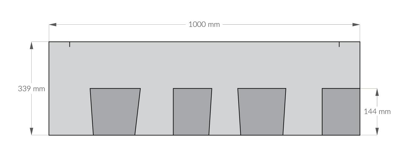 rysunek techniczny gontu z dożywotnią gwarancją gaf timberline hd, pokrycia dachowe i akcesoria uzupełniające z USA, Kanada