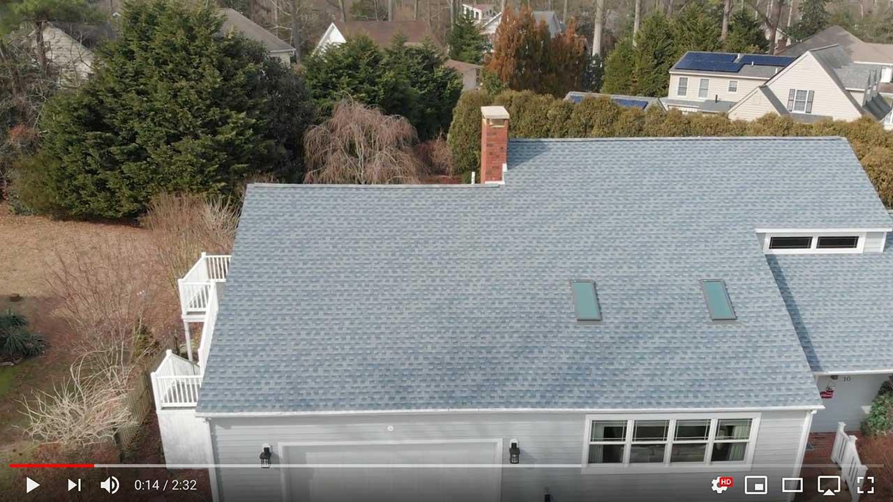 Dach pokryte gontem GAF timberline® HD™ w kolorze Biscayne Blue