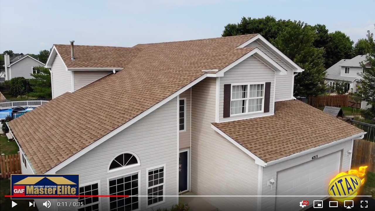 Dach pokryte gontem GAF timberline® HD™ w kolorze Shakewood