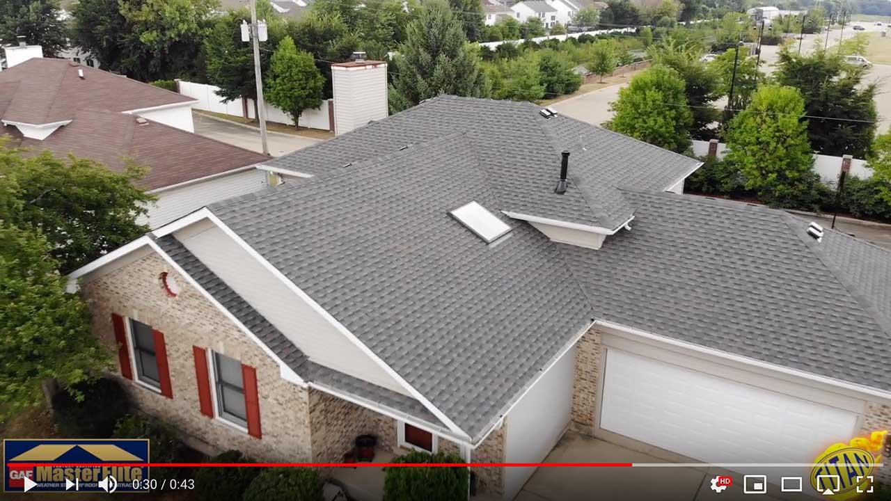 Dach pokryte gontem GAF timberline® HD™ w kolorze Wiliamsburg Slate