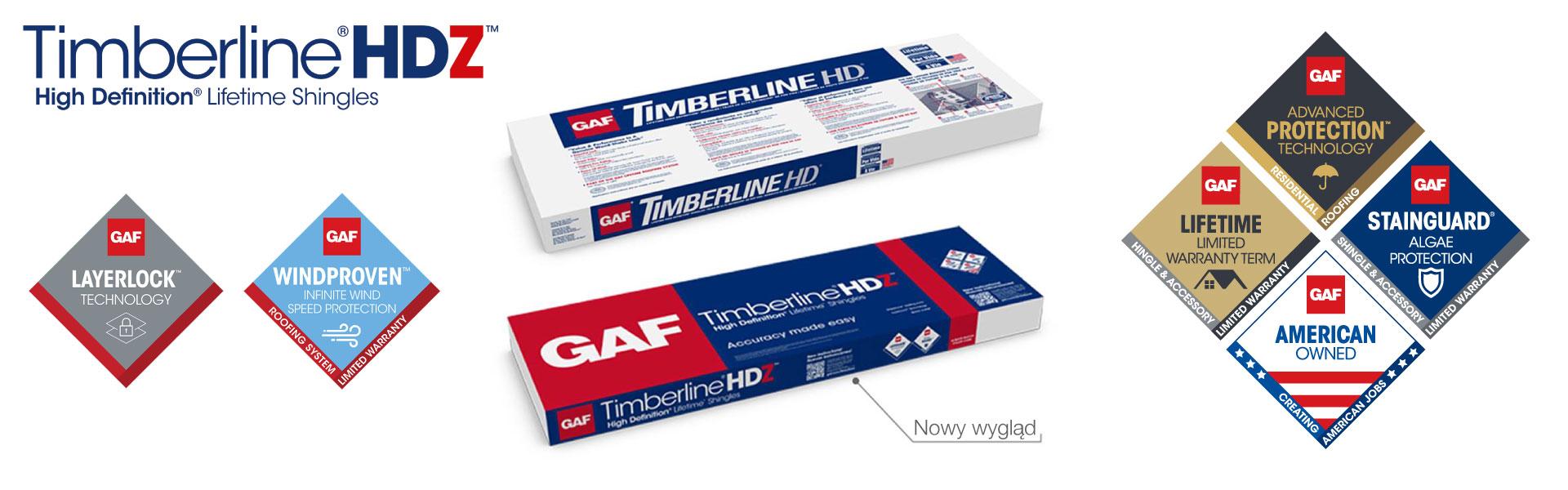 Nowość na 2020 rok gont bitumiczny timberline hd zmienia się w gont timberline hdz otrzymując nowe opakowanie i wiele technologicznych ulepszeń