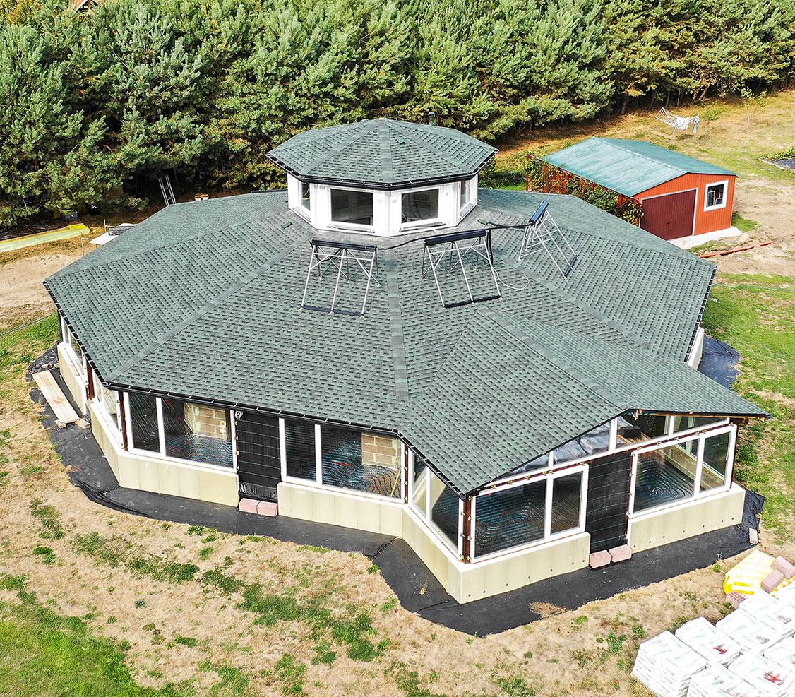 amerykański gont gaf, pokrycia dachowe, timberline hd w kolorze hunter green