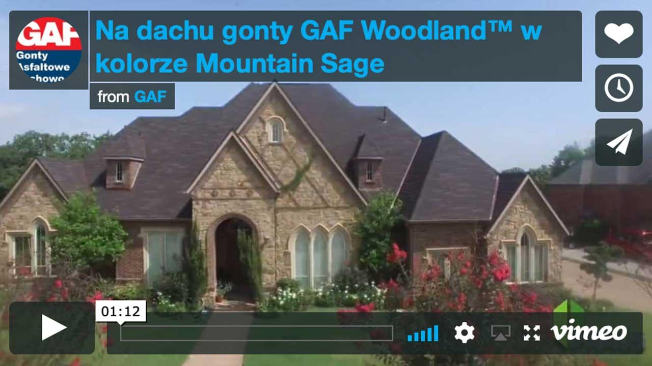 Dachy pokryte gontem GAF Slateline®