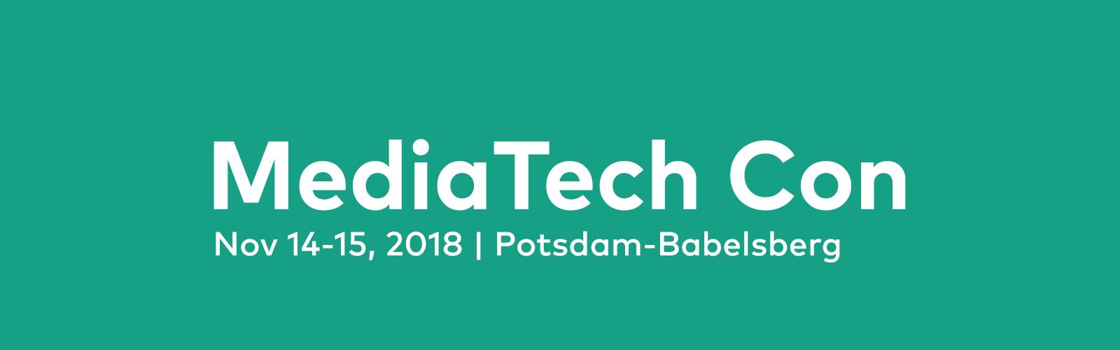 MediaTech Confernce 2018 Potsdam
