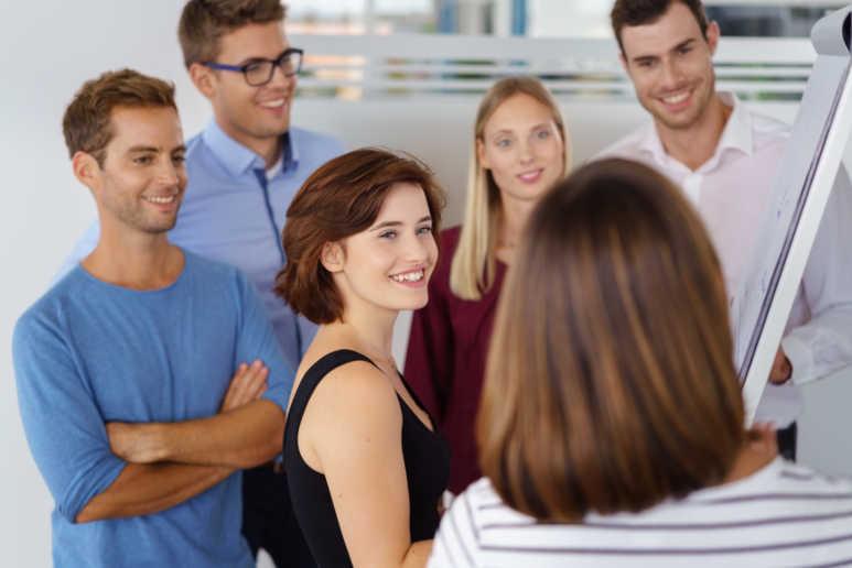 Smiling Customer - Begeisterte Seminar Teilnehmer