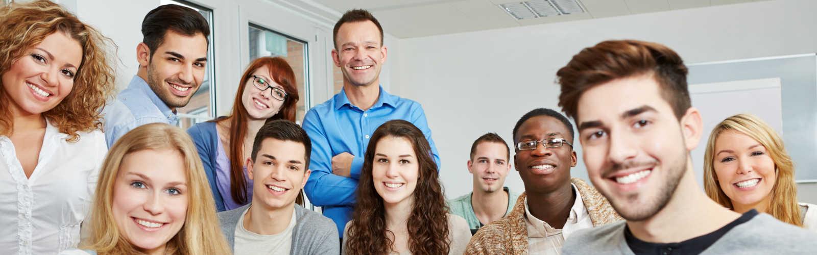 Smiling Customer - Glückliche Seminar Teilnehmer