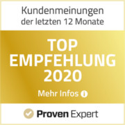 ProvenExpert Auzeichnung - Top Empfehlung 2020