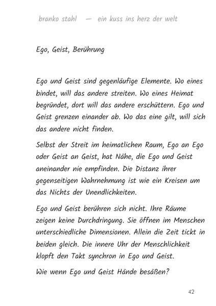 Ein Kuss ins Herz der Welt Branko Stahl Märchen Romane Lyrik