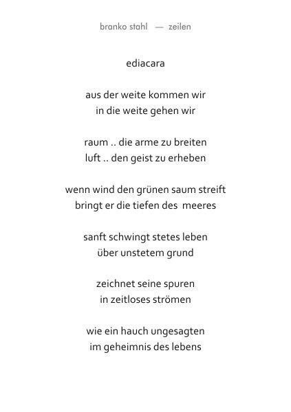 gedankenstille Branko Stahl Märchen Romane Lyrik