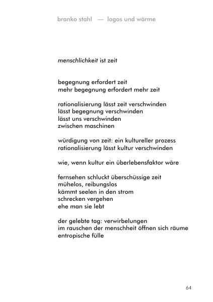 logos wärme Branko Stahl Märchen Romane Lyrik