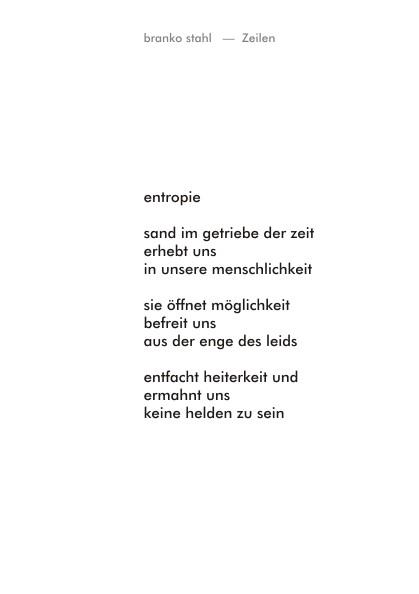 gedankenmusik Branko Stahl Märchen Romane Lyrik
