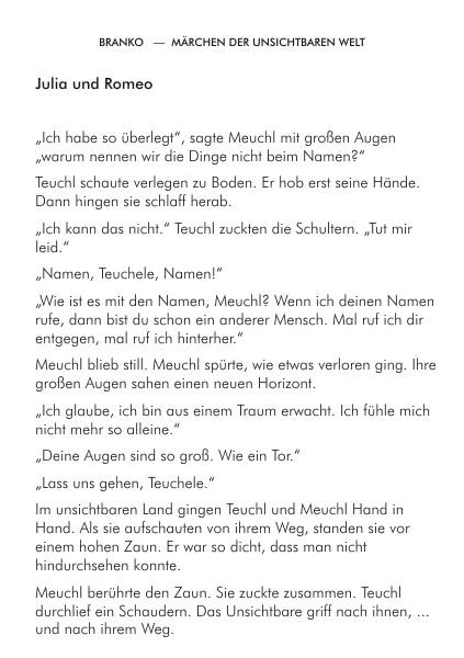 Märchen der unsichtbaren Welt Branko Stahl Märchen Romane Lyrik