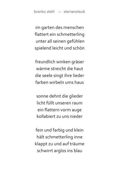 sternenstaub Branko Stahl Märchen Romane Lyrik