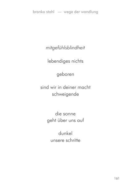 Wege der Wandlung Branko Stahl Märchen Romane Lyrik