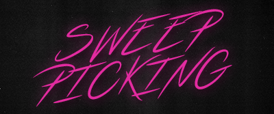 Font logo for sweep picking lesson.